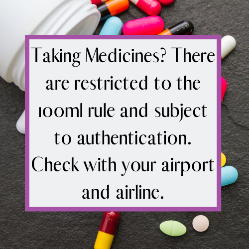 medicine at newcastle airport security